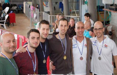 31 מדליות לקבוצת השחייה הגאה באליפות ישראל למאסטרס